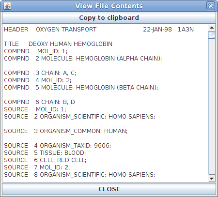 File Contents Window
